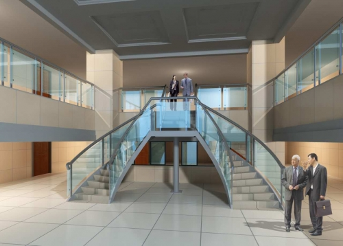 娄底中心医院钢结构楼梯