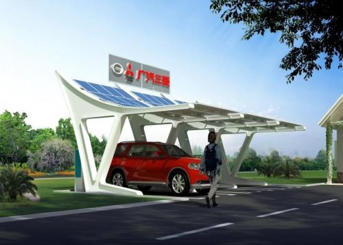 广汽三菱太阳能雨棚