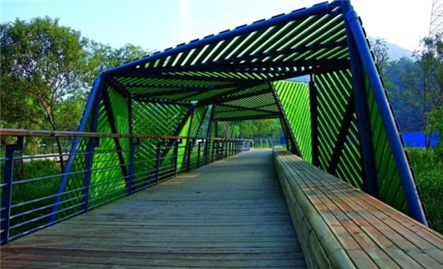 钢木廊架,景观廊架,异形廊架