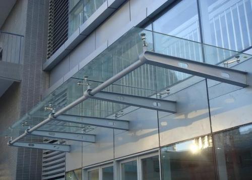 长沙钢结构玻璃雨棚,车道雨棚,门头雨棚