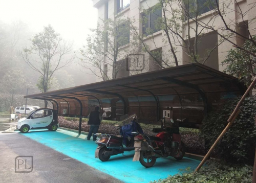长沙电动车雨棚,单车雨棚,通道雨棚