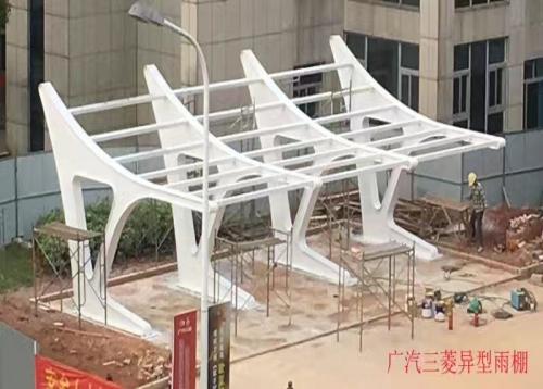 长沙钢结构廊架,景观廊架