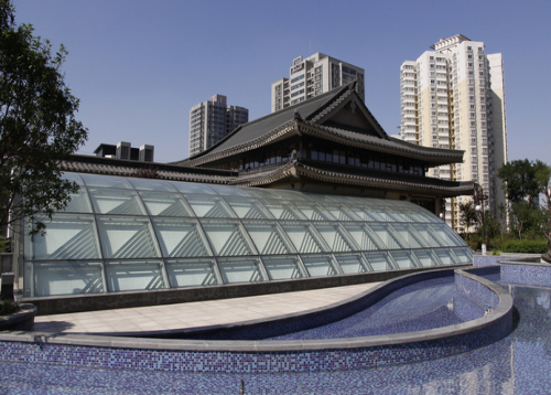 长沙钢结构玻璃雨棚